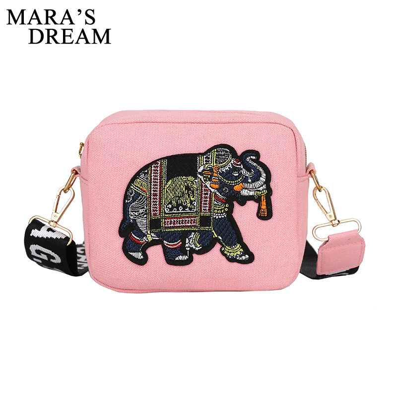 Maras Dream Luxury Crossbody Bags for Women Canvas Flap Embroidery Elephant Handbags Messenger Shoulder Ladies Hand Bags TotesMaras Dream Luxury Crossbody Bags for Women Canvas Flap Embroidery Elephant Handbags Messenger Shoulder Ladies Hand Bags Totes