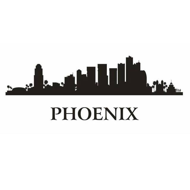 PHOENIX City Decal Landmark Skyline Wall Stickers Sketch Decals Poster Parede Home Decor Sticker