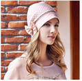 free shipping free size cotton elastic bowknot dots nursing lady  pregnant  puerpera summer hats for women