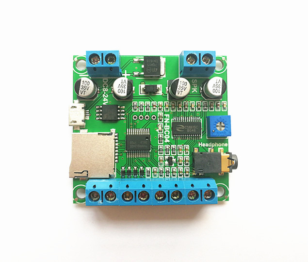 4 Buttons Triggered MP3 Sound Module Triggerable MP3 Sound Board with Class D 10Watts Amplifier for