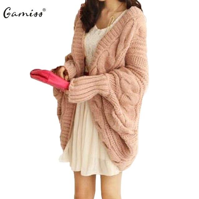 Gamiss 2016 Autumn Women Sweaters Long Maxi Warm Knitted Cardigan Sweaters  Women Autumn Winter Jumpers Oversize 74b8e051e
