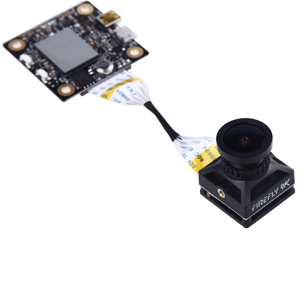 Hawkeye Firefly Split 4K 160 stopni HD nagrywanie DVR kamera Mini FPV WDR pojedyncze płyty wbudowany mikrofon opóźnienia kamera do RC Drone w Części i akcesoria od Zabawki i hobby na  Grupa 1