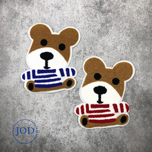 JOD Cute Wool Bear Large Patches for Clothes Children Sweater Decorative Embroidery Patch Applique Sewing Applications @