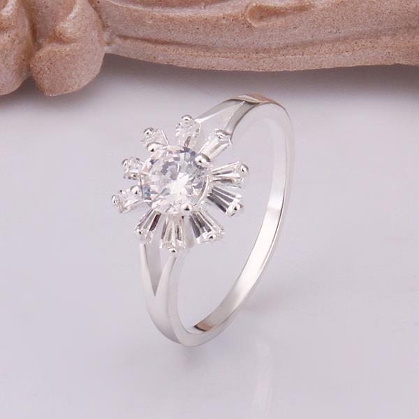 Hot Sell Exo Silver Plated Rings Inlaid Stone Fireworks Ring Men Gift For Her Smtr261 Moderate Cost