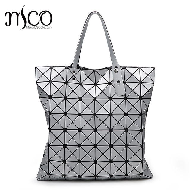 0cb39e5e87f8 2017 Japan Style Luxury Matte Rock Holographic Shoulder Bag Fashion  Geometry Laser Folding Women Bao Tote