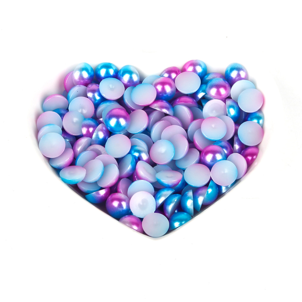New sale Half Round Imitation Pearls Flatback Scrapbook Beads DIY For Garment/Phone Case/Nail Making Sewing Accessories(China)