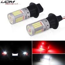 IJDM รถ T20 LED สีขาว/สีแดง Dual สี CANbus W21W 7440 3156 1156 P21W หลอดไฟ LED สำหรับรถยนต์ไฟสำรองย้อนกลับด้านหลังหมอกโคมไฟ