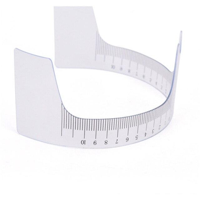 1PC Reusable Semi Eyebrow Guide Ruler Microblading Calliper Stencil Makeup Permanent Eyebrow Ruler Eye Brow Measure Tool 4