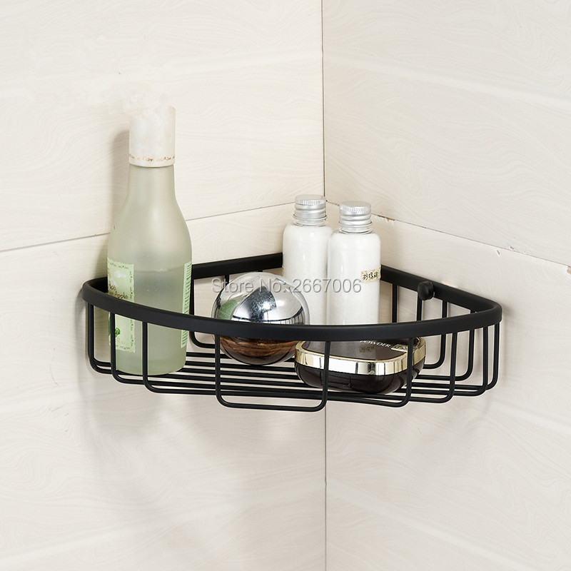 Free Shipping Home Improvement Ancient Bronze Bathroom Storage Triangle Corner Basket Shelf Single Layer Hanger Shelf ZR2521 amira sabet el mahrouky improvement of jute packages to resist insects during crops storage