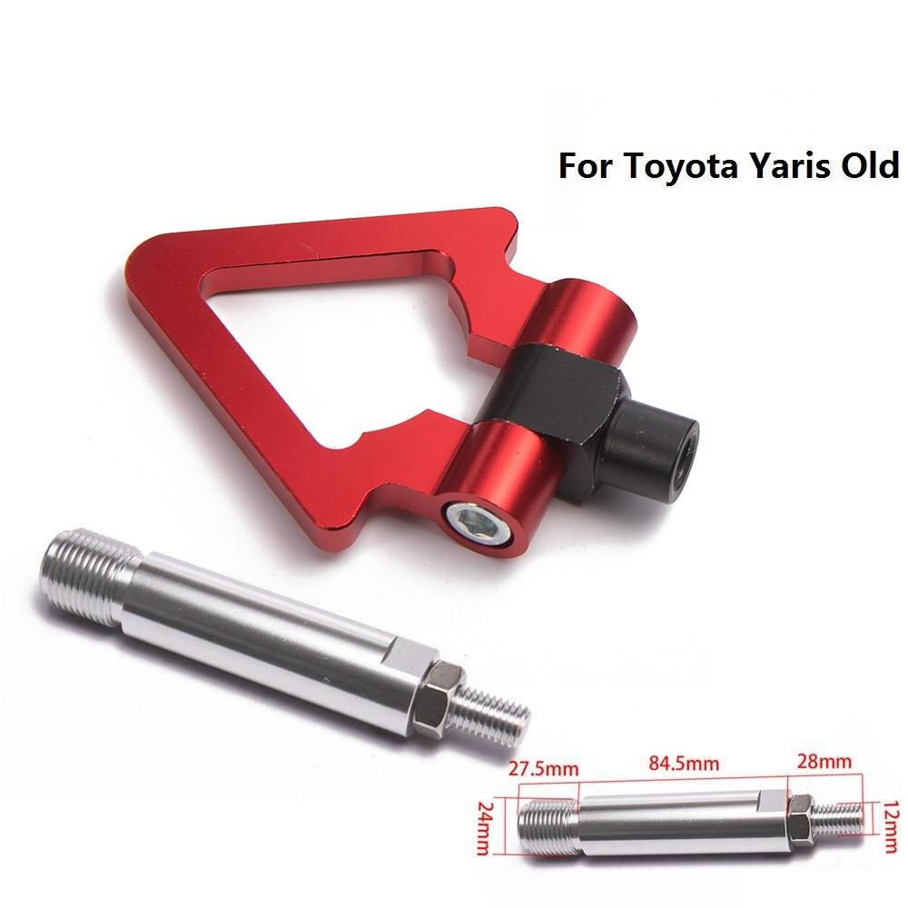 Спортивный EPMAN Jdm Алюминиевый Forge передний фаркоп передний задний для Toyota Yaris старый EP-RTHLPH007 - Название цвета: Red