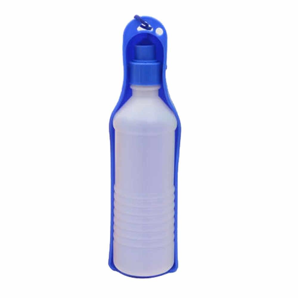犬旅行スポーツウォーターボトル 250/500 ミリリットルプラスチック軽量ブルー屋外フィード飲料ボトルペット供給ポータブルペット用品