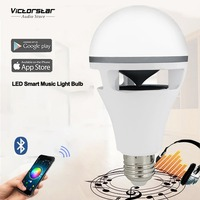 Light Bulb With Bluetooth Speaker 10W LED Music Light Bulb Work With App Of IOS Android