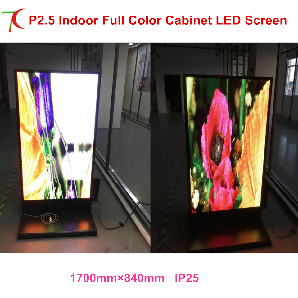 China Factory Sales Customized Size Indoor Metal Display Advertising Led Full Color Advertisemet Display Led Poster Screen