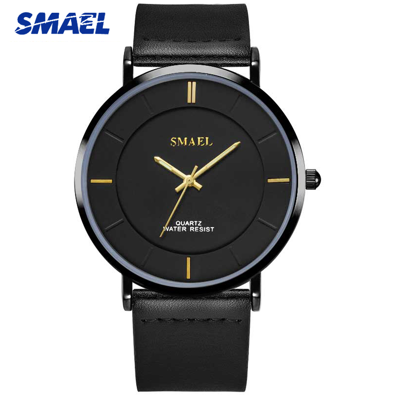 SMAEL Fashion Large Dial Mens Watches Top Brand Military Quartz Leather Sport Watch Men Luxury Casual Male Clock Wristwatch fashion casual luxury large dial mens wristwatch big dial military men sport quartz male watches business stainless steel watch