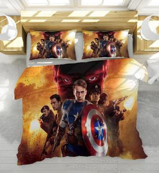 Marvel Avengers Alliance 3D Venom Bedding Set Iron Man Double Queen King Comforter Bedding Sets Bedclothes Bed Linen TM44
