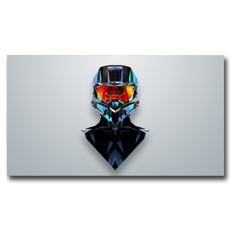 Foocame Halo Xbox One Master Chief Video Game Art Silk Poster Prints