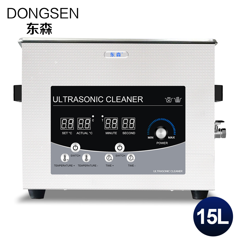 15L Ultrasonic Cleaner Stainless Steel Hardware Golf Club Chains Rust Oil Remove Car Parts Ultrasound Bath Heater Washing Tanks