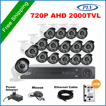 16ch 720p cctv video surveillance camera security system 16pcs 1.0megapixel camera free PC client software & Mobile App 1tb hdd(China (Mainland))