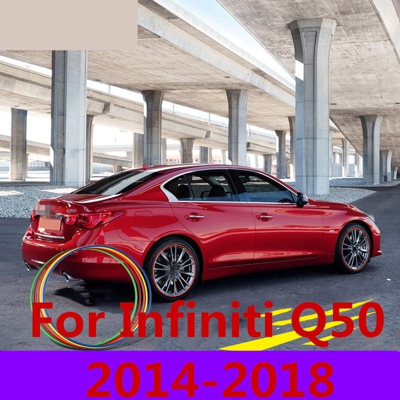 For Infiniti Q50 2014 2018 Car Wheel Trim Wheel Arch