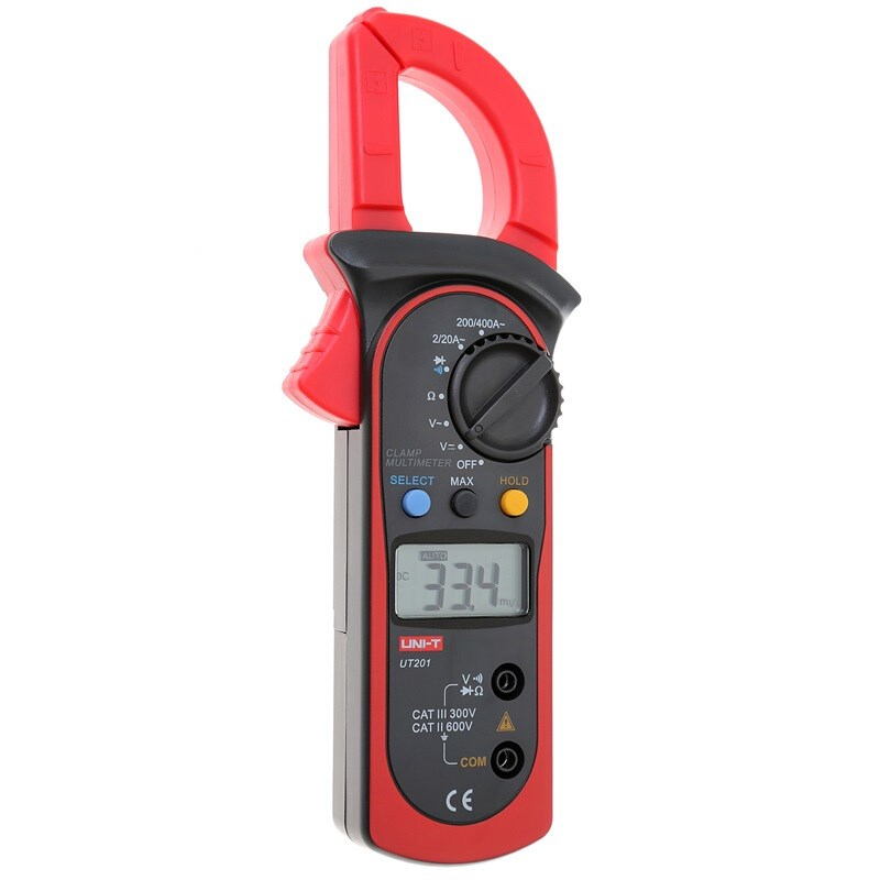 UNI-T UT201 LCD Digital Clamp Multimeter Ohm DMM DC AC Voltmeter FREE SHIPPING multimeter digital professional UT201 цена