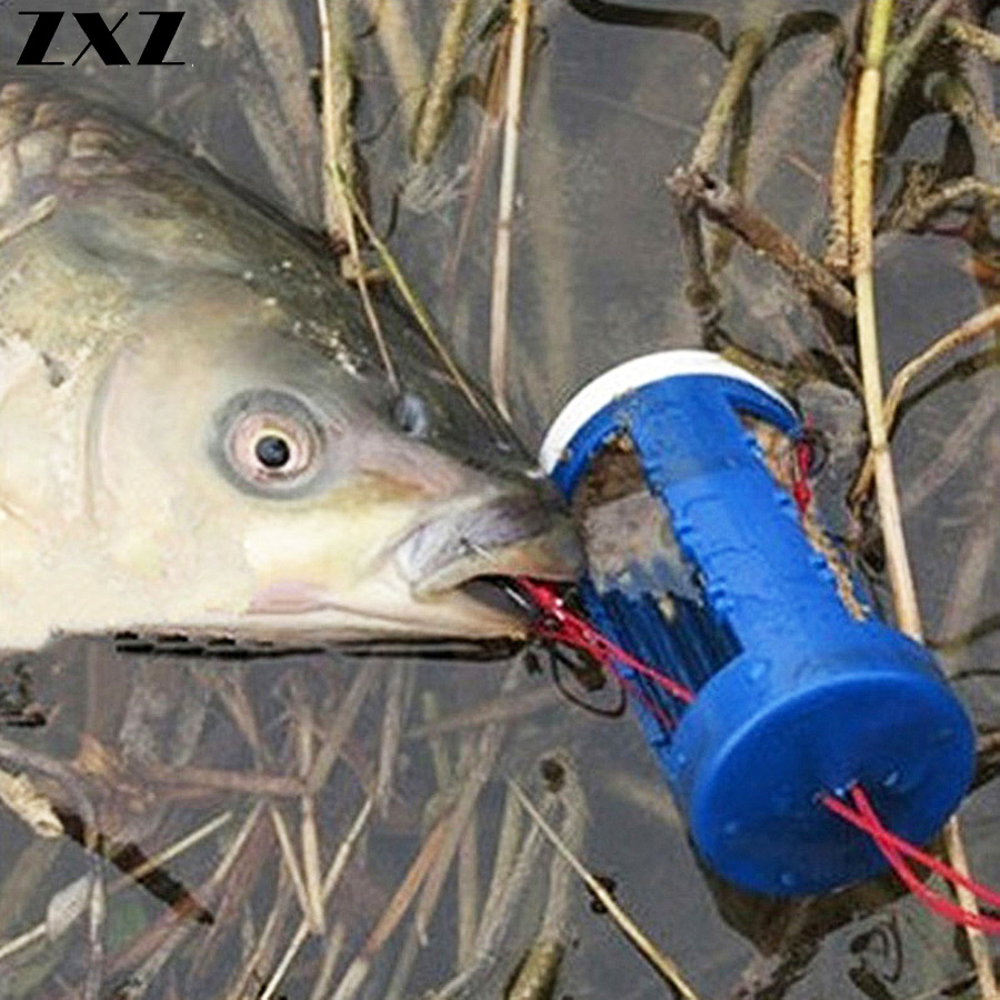 10Pcs Cluster Bomb Proof Hanging Explosion Hook Fishhooks / Carbon Steel Plastic Box Bait Holder Fishing Hooks Set Pesca T4