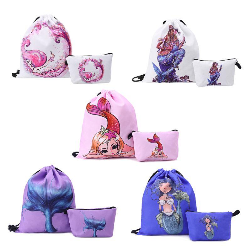Drawstring Bag Backpack Cinch Sack School Bookbag Swimming Travel Handbag Adults Kids Sports Rucksacks