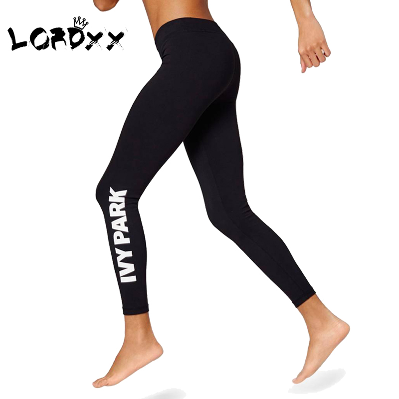 LORDXX   Leggings   Women ivy park Print Push Up High waisted seamless   leggings   Black clothes workout women fitness clothing