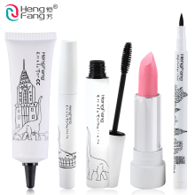 1Set=5Pcs Makeup Set Lipstick and BB Cream and Eyeliner and Mascara Zoo Series Makeup Brand HengFang #HF004