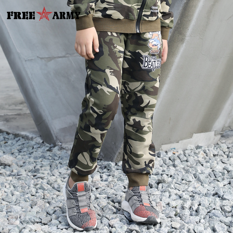 Brand Cotton Pants For A Teenager Camouflage Trousers For Boys Sweatpants Military Childrens Capri Casual Sports Pants Boy Loose in Pants from Mother Kids