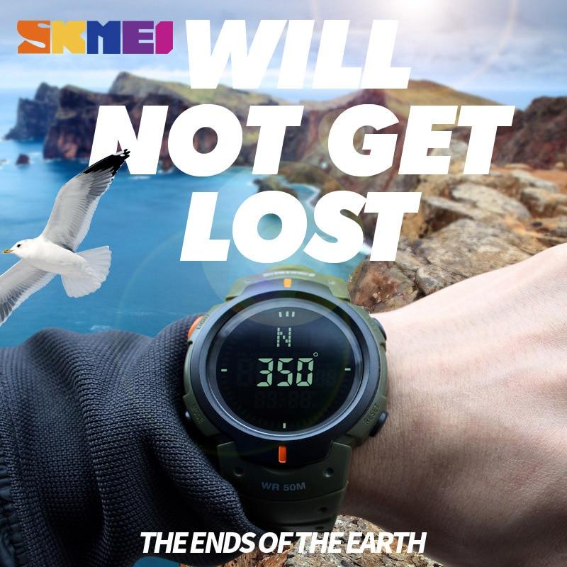 Digital Watches Skmei Compass Sports Watches Men Waterproof Wristwatches Hiking Men Watch Digital Led Electronic Watch Relogio Masculino 2018