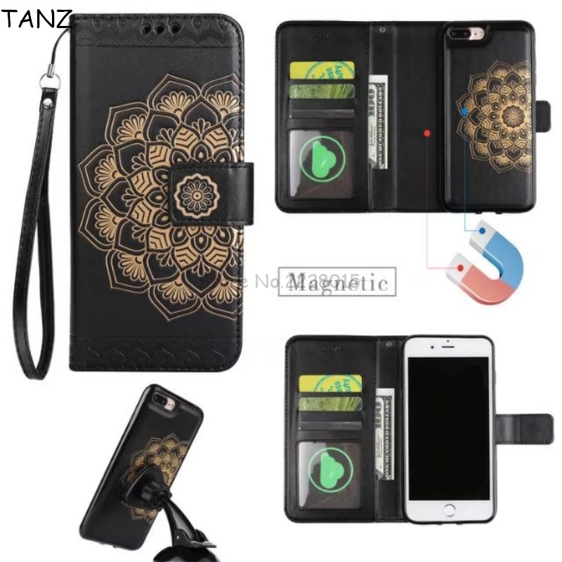 Tanz для iphone 8 6 S чехол 2in1 Многофункциональный съемная магнит кожаный чехол для iPhone 6 S 6 7 Plus кошелек Coque ремешок слот для карты