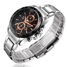 Impermeable Lujo de la Marca Relojes de Los Hombres de Negocios de Acero Inoxidable reloj Militar Deportes Relojes de Pulsera Relogio masculino reloj FD0300