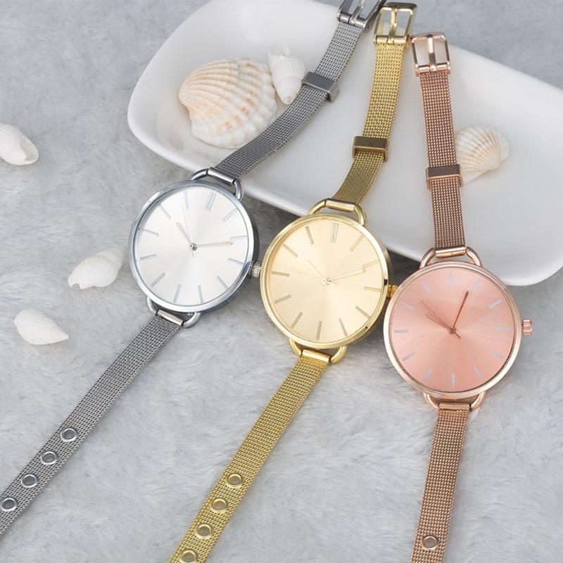 Rose gold simple alloy watch minimalist quartz women watch Fashion temperament girl dress petals ladies Women's Bracelet Watch стоимость