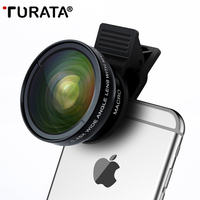 Mobile Phone Lenses Turata Universal 2 In 1 0 45X Wide Angle 12 5X Macro With