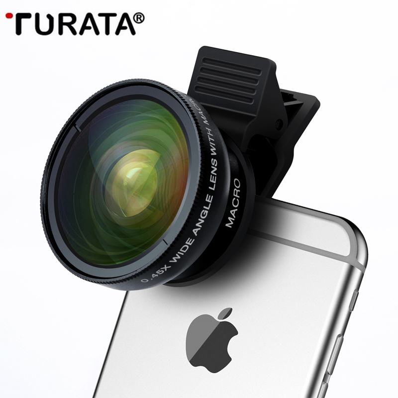 Industrious Turata Phone Lens, 2 In 1 Hd Camera Fisheye Lens [0.45x Wide Angle + 12.5x Macro] Clip-on Kit Lens For Iphone 5 5s Se 6 6s 7 Discounts Sale