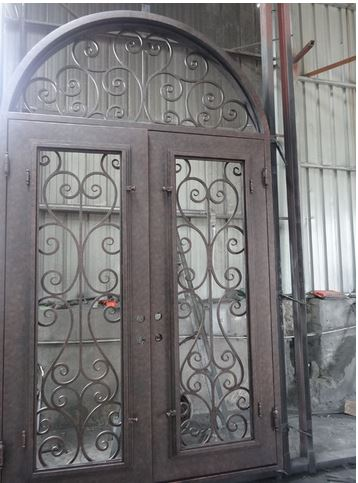 iron doors 72x108 wrought iron doors 8mm clear glass+ 12 gauge steel +8mm rain glass fixed shipping USA home address $4000iron doors 72x108 wrought iron doors 8mm clear glass+ 12 gauge steel +8mm rain glass fixed shipping USA home address $4000