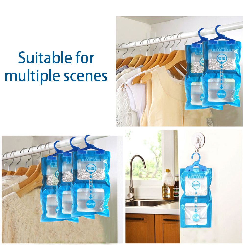 Household Moisture Absorber 180g Wardrobe Cabinet Moldproof Dehumidification Bag Can Be Used To Hang Dehumidifier Bag 500ML