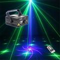 New Mini IR Remote 18 Pattern GB Laser Projector Lights 3W Blue LED Mixing Cross Effect DJ KTV Stage Lighting Z18GB
