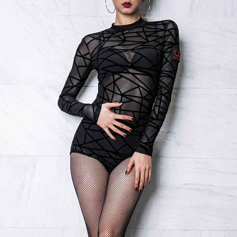 New Women Latin Dance Top Modern Dance Top Latin Dance Competition Black Top Ballroom Dance Competition Costume DQS1214