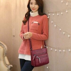 Image 5 - Mode femmes haute qualité en cuir sacs à bandoulière 2018 de luxe femme concepteur sac à bandoulière loisirs fourre tout pour dame sac à bandoulière