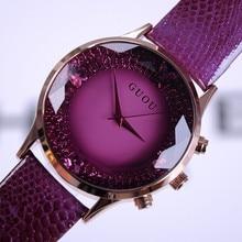 2016 Del Verano Nuevas Mujeres de la Llegada Relojes de Señora de Moda de Lujo Relojes de Pulsera de Cuero Genuino Reloj de Pulsera de Las Mujeres Relojes de Pulsera