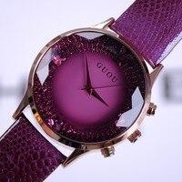 2015 Summer Women Rhinestone Watches Lady Luxury Wristwatches Genuine Leather Quartz Watch Women Bracelet Watches Wristwatch