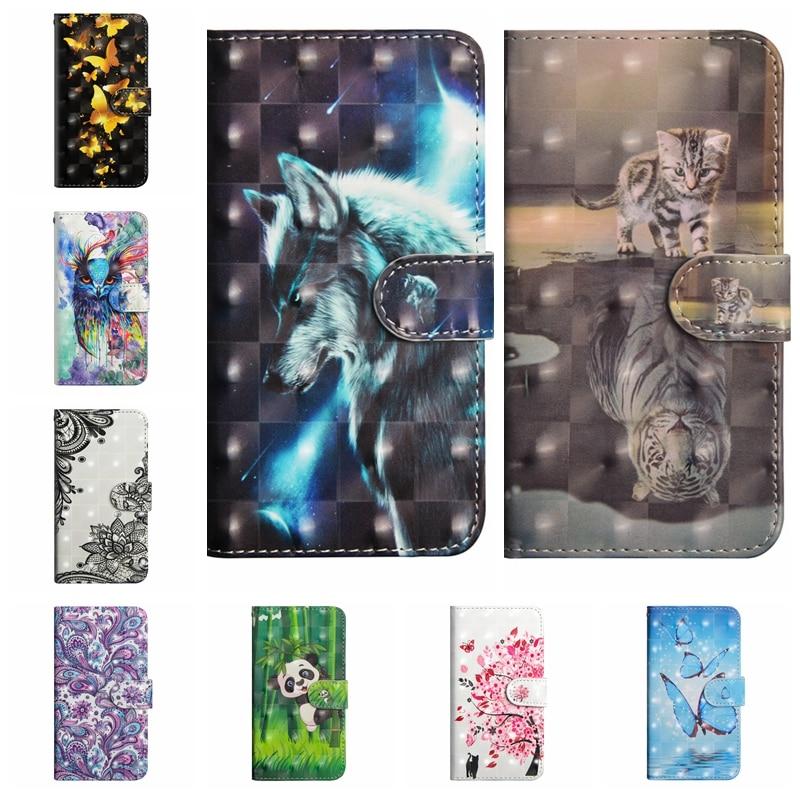 sFor Coque BQ Aquaris X Pro Case Cat Leather Wallet Flip Cover For BQ Aquaris X