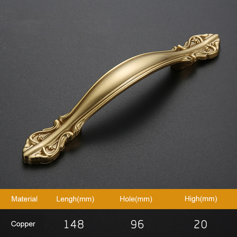2018 New  antique furniture hardware  brass  Kitchen Drawer Cabinet Pull Handle  Drawer Pulls Door golden Handles  T1016 l door handle furniture handles black drawer kitchen cabinet door handle grips hole pitch handle pulls