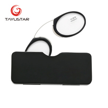 Nose Standing Pod Reading Reader Pocket Eyeglasses clip on Wallet Prescription Glasses Nose Clip On Reading glasses 6105A girls standing on lawns