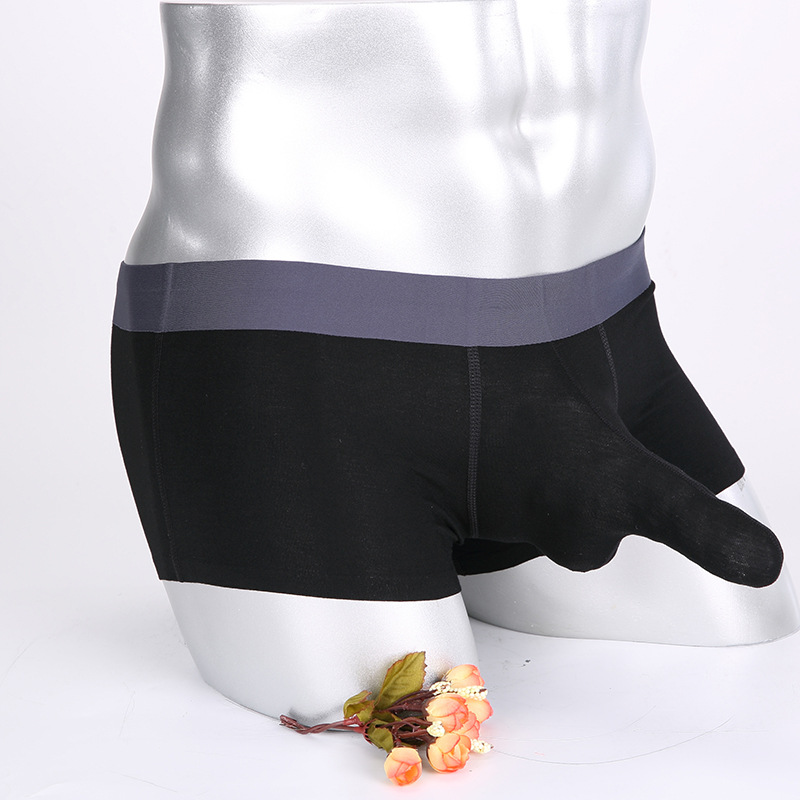 Sexy Mens Underwear Boxers Male Elephant Nose Penis Pouch Boxer Shorts Panties Men Cotton Trunks Cueca