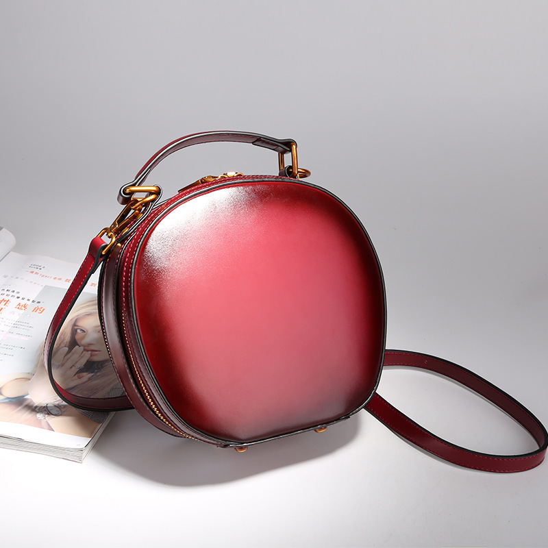 Fashion circular cow leather women messenger bags phone clutch bag high quality genuine leather bag small ladies shoulder bag 2017 fashion all match retro split leather women bag top grade small shoulder bags multilayer mini chain women messenger bags
