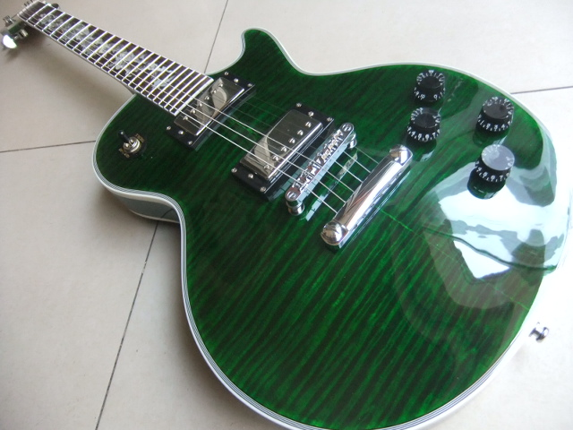Wholesale New LP Custom Electric Guitar With Abalone Dragon Inlay In Green Burst 110405 electric light orchestra – a new world record lp