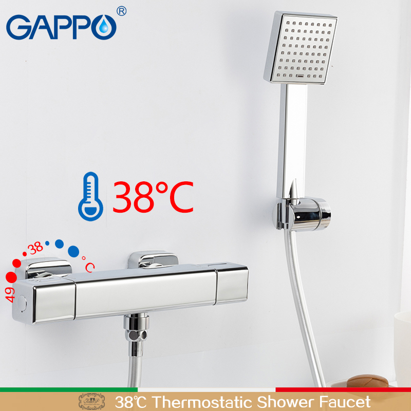 GAPPO Bathtub faucet thermostatic shower mixers in wall faucets shower faucet thermostatic thermostat faucets