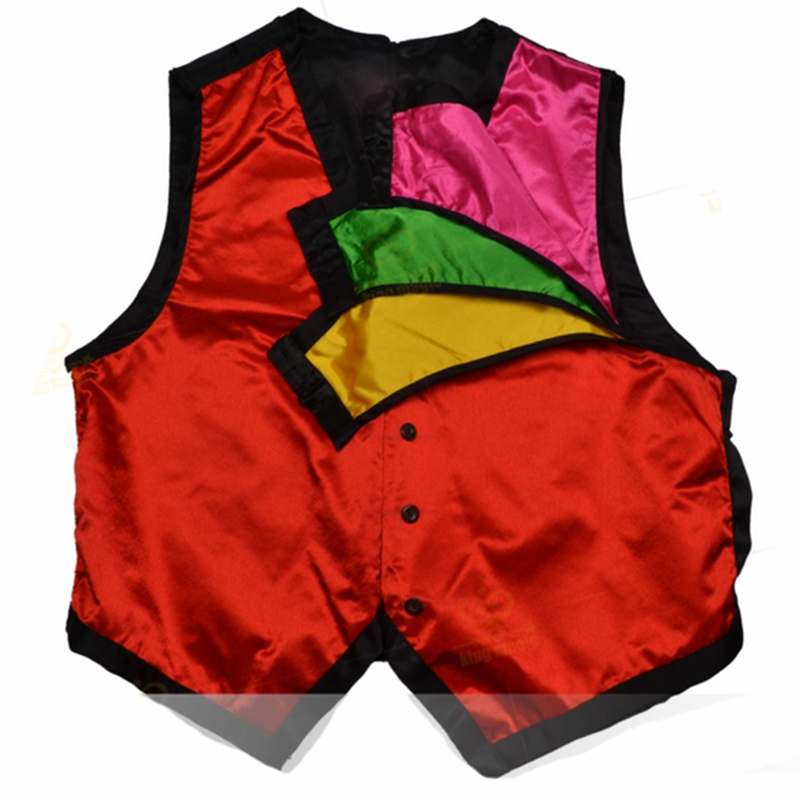Color Changing Vest (Middle Size) - Magic Tricks 4 Color Changes (red Blue Yellow Green),stage,fire,close Up,Accessories
